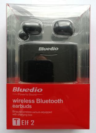 Беспроводные Bluetooth наушники Bluedio T Elf 2 с зарядным боксом