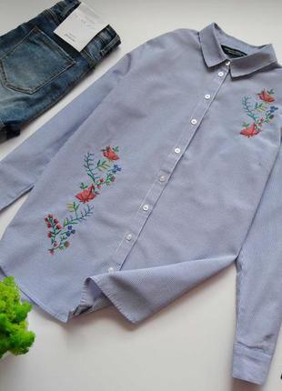 Сорочка з вишивкою в полоску dorothy perkins