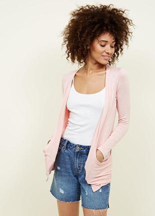 New look. кардиган с карманами в нежно-розовом марле.на наш ра...