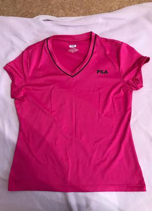 Розовая спортивная футболка Fila, оригинал