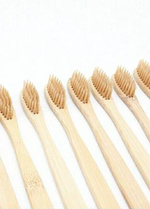 Зубная щетка из натурального бамбука