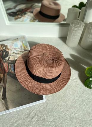 Летняя соломенная шляпа для девушек