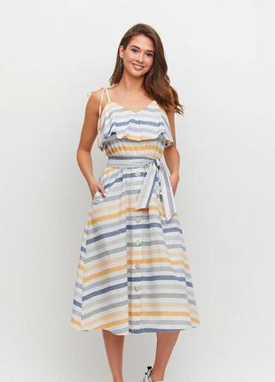 Льняной сарафан, льняное платье