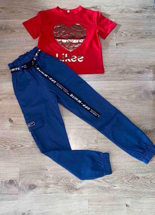 Костюм лайк для девочки, футболка и джогеры