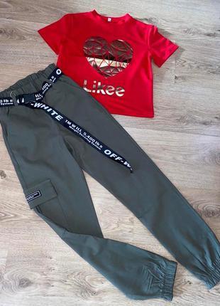 Бомбезный костюм, футболка и джогеры
