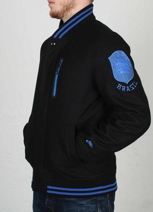 Nike bomber jacket brazil wool осень весна евро зима