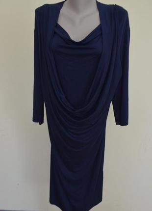 Красивое трикотажное платье -двойка свободного фасона длинный ...