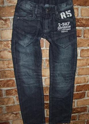 Синие джинсы с утяжкой 11 лет