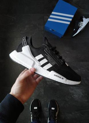 Кроссовки мужские рефлектив adidas nmd r1 v2 core black
