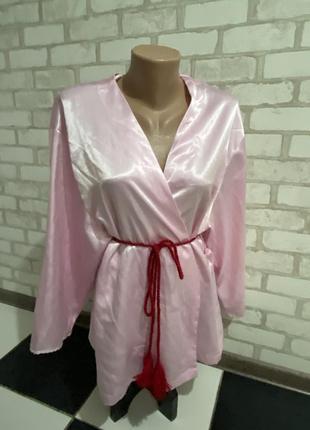 Пеньюар халат цвет розовая пудра