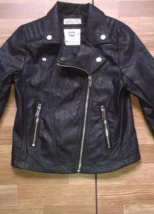 Крутая куртка косуха h&m на девочку 10-11 лет р 146