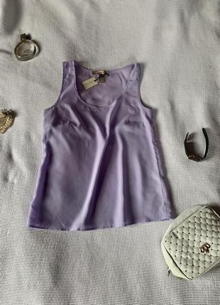 Блуза майка лавандовый цвет новая фиолетовая