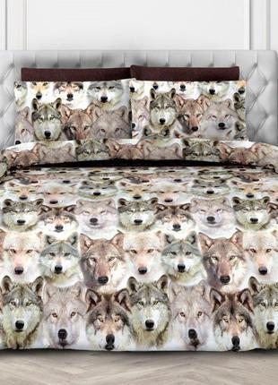 Зов предков - постельное белье с волками, 3D эффект. 100% хлопок