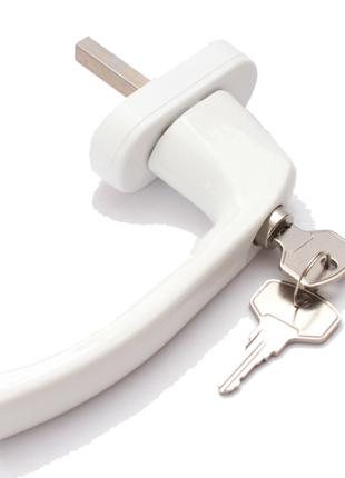 Оконная ручка с замком -ключ Premium