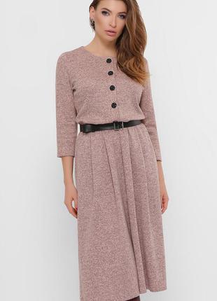 Батальное ангоровое платье -миди