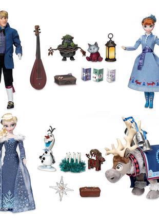 Набор кукол Холодное Сердце 2 поющие Эльза, Анна и Кристофф - при