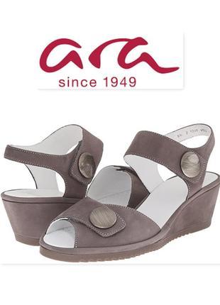 Ara босоножки женские размер 41- 10, 5us все кожа румыния