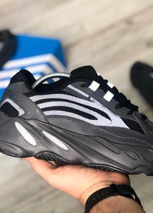 Кроссовки мужские, рефлектив adidas yeezy boost 700