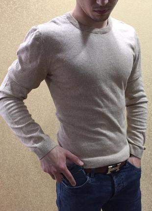 Мужская кофта asos, летний джемпер. свитшот. пуловер бежевая к...