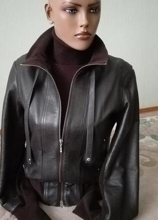 Куртка спортивная кожа натуральная короткая