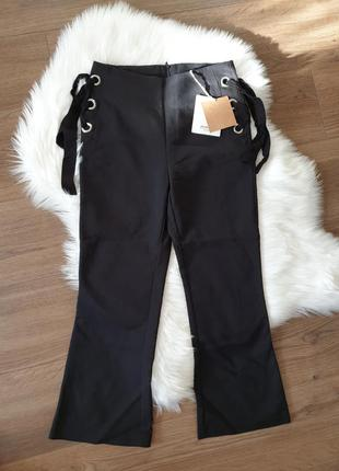 Stradivarius кюлоты брюки черные s 36 р.