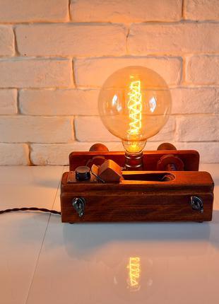 Настольная лампа-ночник Шпунтубель Лофт Светильник