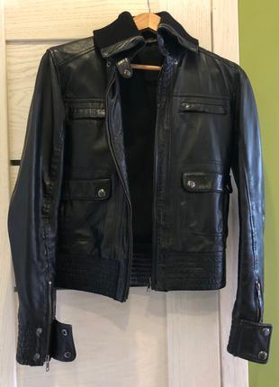 шкіряна куртка Mango