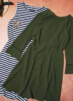 Тотальная распродажа! красивейшее платье цвета хаки