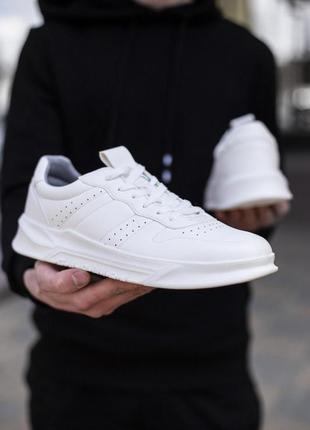 Sale 👟 кроссовки мужские белые эко-кожа 👟