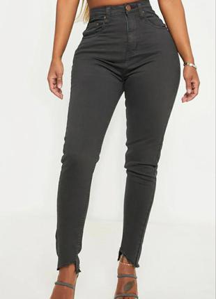Джинсы скины высокая талия 🔥 стрейчовые джинсы prettylittlething🔥