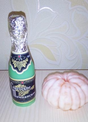 Мыло шампанское мандарин / мыло ручной работы / подарок новогодни