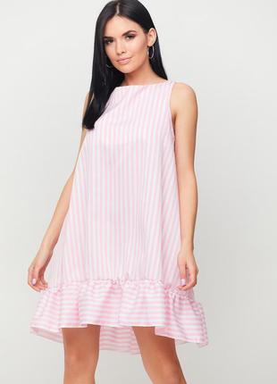 Платье а-силуэта без рукавов