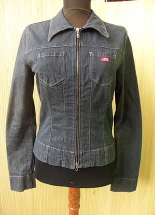 Джинсовая куртка / рубашка на молнии miss sixty