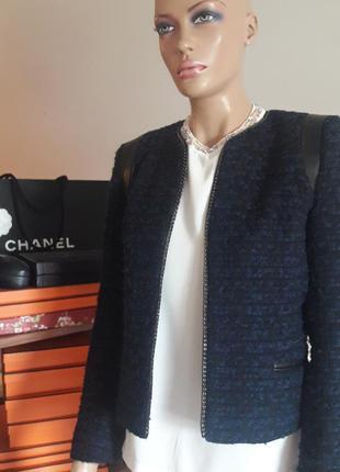 Sandro! оригинал! шикарный твидовый пиджак/жакет!