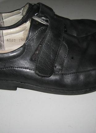 Практичные, удобные туфли  для мальчика braska натуральная кож...