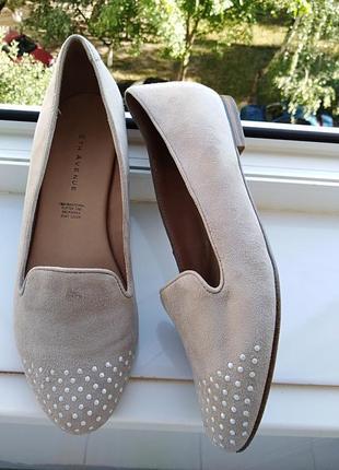Замшевые  туфли 5th avenue.