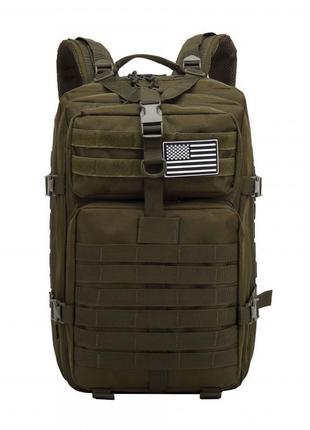 Черный мужской рюкзак цвета хаки augur army