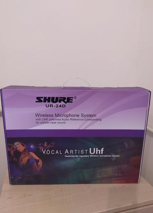Радиомикрофон SHURE UR24D+BETA58. Радиосистема Shure GLXD4.