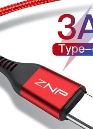 Качественный кабель ZNP разъем USB Type C 2,4 А Xiaomi Samsung...