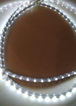 Светодиодная влагостойкая LED лента 220 v в силиконе 3 метра S...
