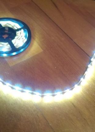 Светодиодная лента LED 5 метров бухта с блоком Кристал: 5050 SMD