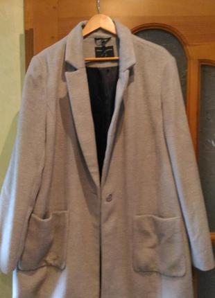Шикарное пальто dorothy perkins 22 uk большой размер