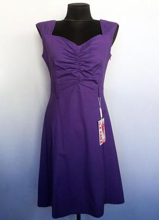 Суперцена. красивое платье, фиолет. турция. новое, р. 42-44