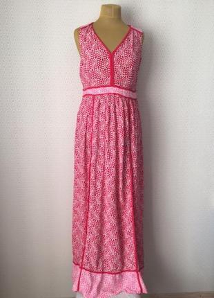 Классное яркое комбинированное платье без рукавов от boden, ра...