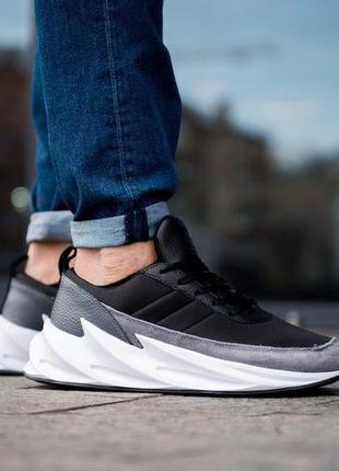 Adidas sharks мужские кроссовки адидас черного цвета (40-45)