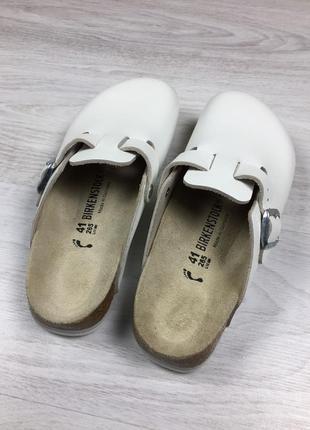Фирменные тапочки шлепанцы сабо birkenstock crocs белые!
