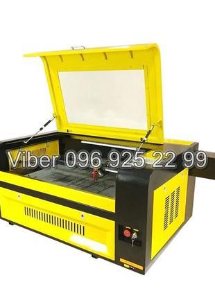 Лазерный станок/гравер 900х600 мм, 100ВТ +Чиллер+Компрессор+Вытяж