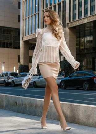 Блуза 32575 белый