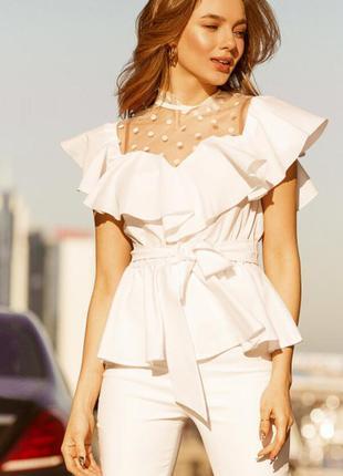 Блуза 34814 белый