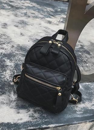 Рюкзак женский стильный маленький стеганый модный супер качест...